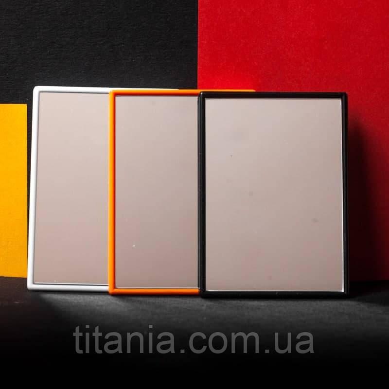 Дзеркало кишенькове маленьке прямокутне кольорове TITANIA art.1550L