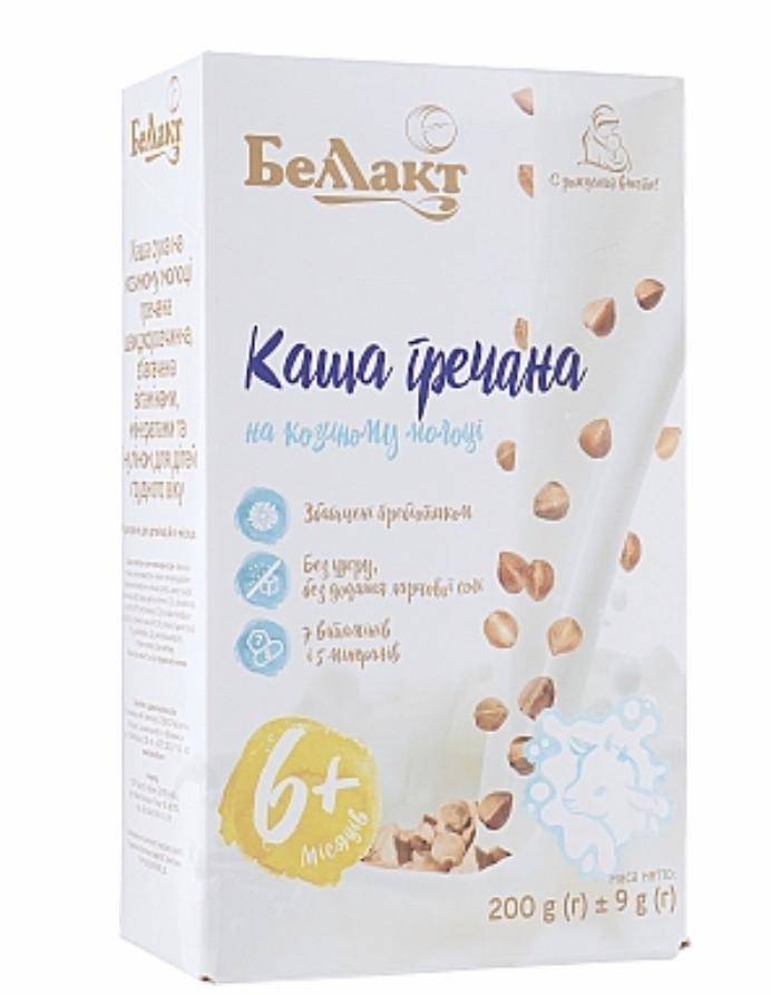 Каша Беллакт суха на козиному молоці гречана швидкорозчинна, 200г