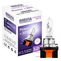 Автомобильная лампа Brevia +30% H15 12V 15/55W PGJ23t-1 (12015PC)