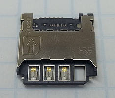 Коннектор SIM-карты для Samsung I9190, I9195, S5280, S5282, S5310, S5312, S7262