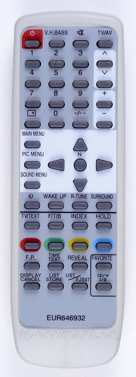 Пульт Panasonic  EUR646932 (TV) з ТХТ як оригінал