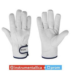 Защитные перчатки из козьей кожи со светлой подкладкой WHITEBIRD RWWB105 Bradas