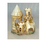 Декорация для аквариума керамическая Замок-скала 14х9х15 см