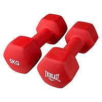 Гантели виниловые для фитнеса Everlast 2 шт по 5 кг 80024/5 OF