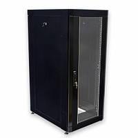 """Шкаф 19 """" 18U , 610 х 865 мм ( Ш * Г ) , черный, фото 1"""