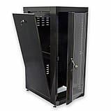"""Шкаф 19 """" 18U , 610 х 865 мм ( Ш * Г ) , черный, фото 2"""
