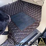Килимки на Toyota Avalon з Екошкіри 3D з текстильними накидками (2018+), фото 5