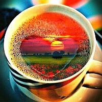 """Алмазная мозаика """"Доброе утро"""", картина стразами. Матовая. 25*25 см"""