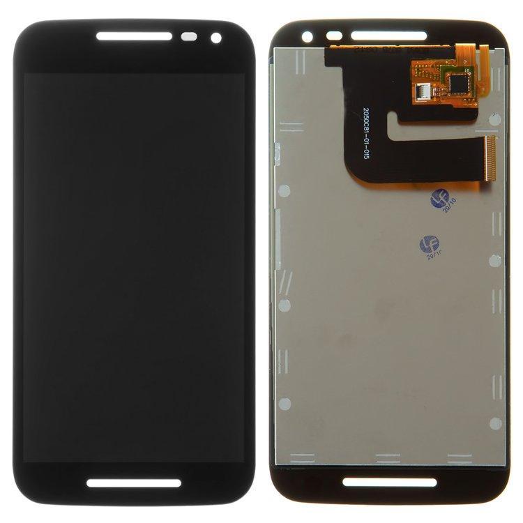 Дисплей для Motorola XT1540 Moto G3 | XT1541 | XT1544 | XT1548 | XT1550 з тачскріном, чорний, оригінал (PRC)