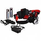 Налобний світлодіодний акумуляторний ліхтар T20, Чорний, фото 5