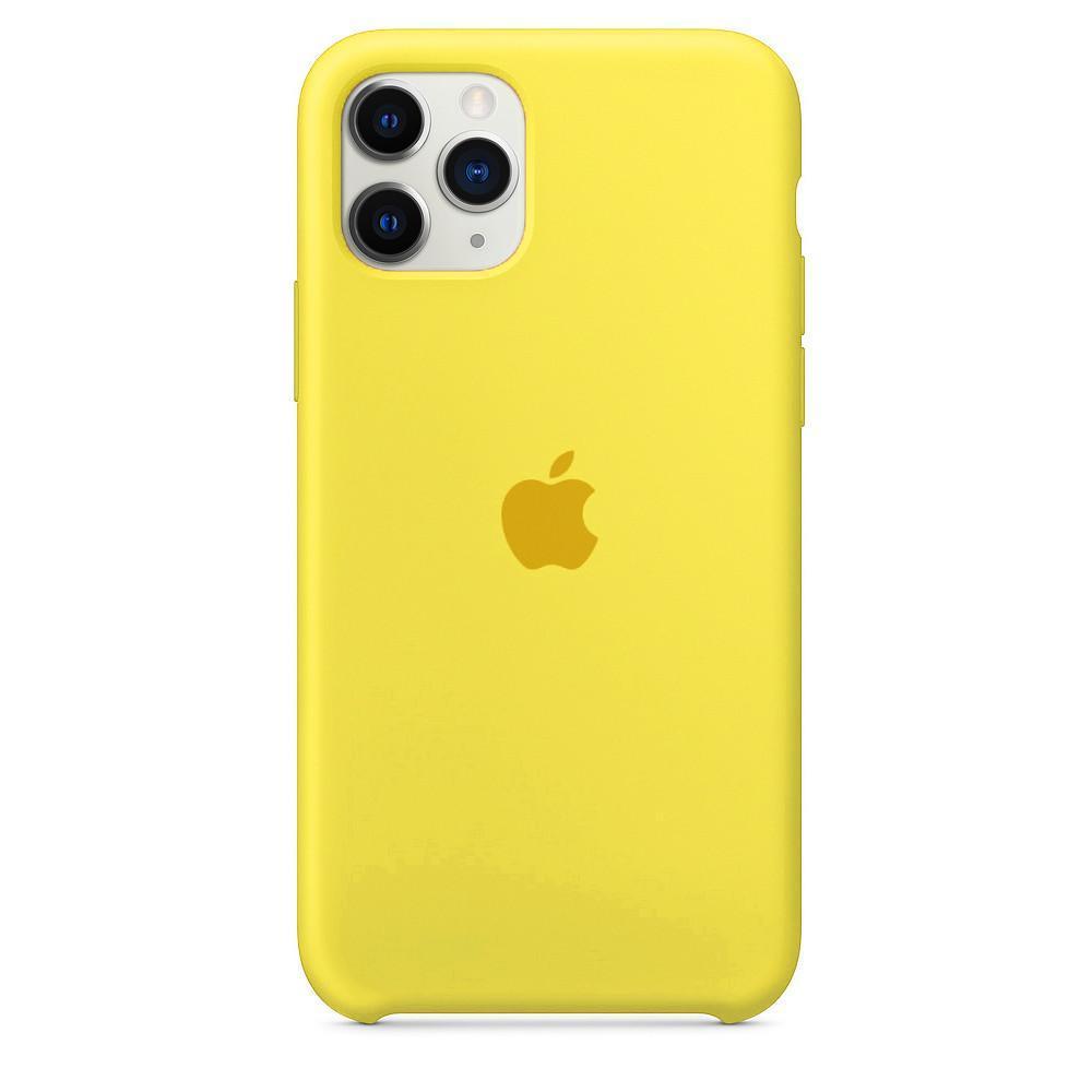 Чехол накладка xCase для iPhone 11 Pro Silicone Case canary yellow
