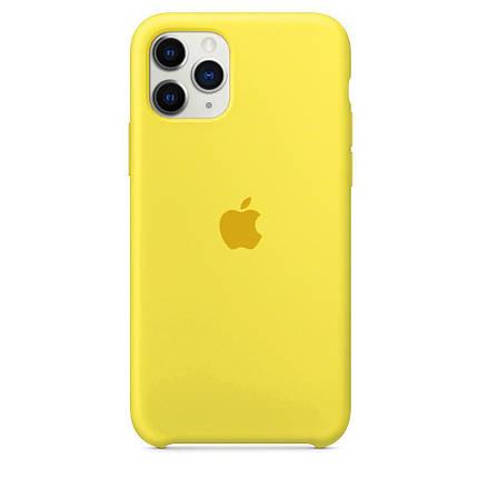 Чехол накладка xCase для iPhone 11 Pro Silicone Case canary yellow, фото 2