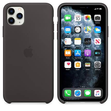 Чохол Silicone Case OEM for Apple iPhone 11 Pro Black, фото 2