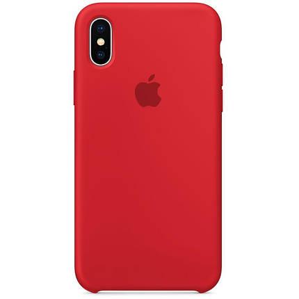 Чохол накладка xCase для iPhone X/XS Silicone Case червоний, фото 2