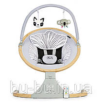 Кресло-качалка Kinderkraft Lumi Wooden (KBLUMI00GRY0000)