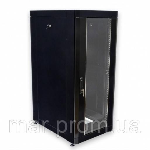 "Шкаф 19 "" 24U , 610 х 865 мм ( Ш * Г ) , черный"