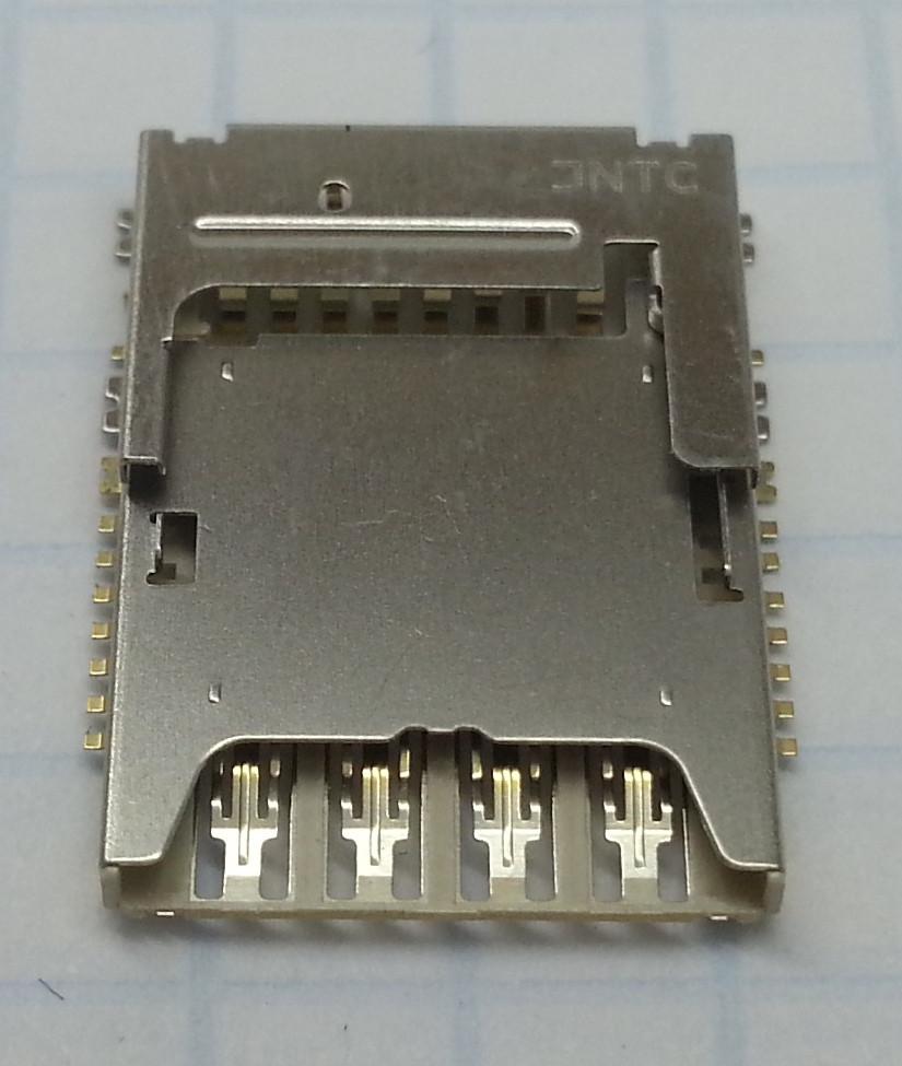 Коннектор SIM-карты для Samsung G355H, G900H, I9300i, N7502, оригинал