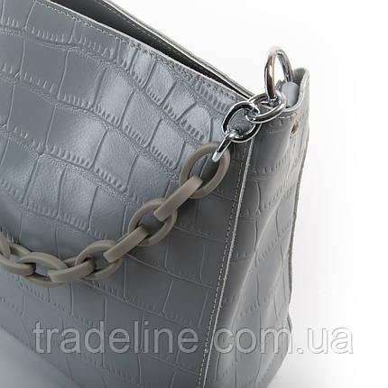 Сумка Жіноча Класична шкіра ALEX RAI 03-01 9704 grey, фото 2