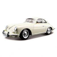 Автомодель Porsche 356B 1961 слоновая кость, красный 1:24
