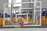 Щит баскетбольный 1800х1050 мм из оргстекла толщиной 8 мм, с силовой антивибрационной металлической рамой