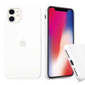 Чехол накладка xCase для iPhone 11 Silicone Case Full white