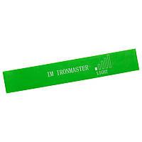 Лента резиновая кольцевая для спорта (600*50*0,45 мм) IronMaster салатовая IR5415-1