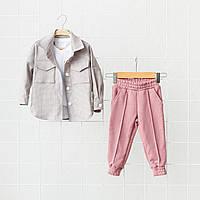 """Костюм """"Triple"""" сезон весна/літо, рожевий. Розміри від 80 до 110, фото 1"""