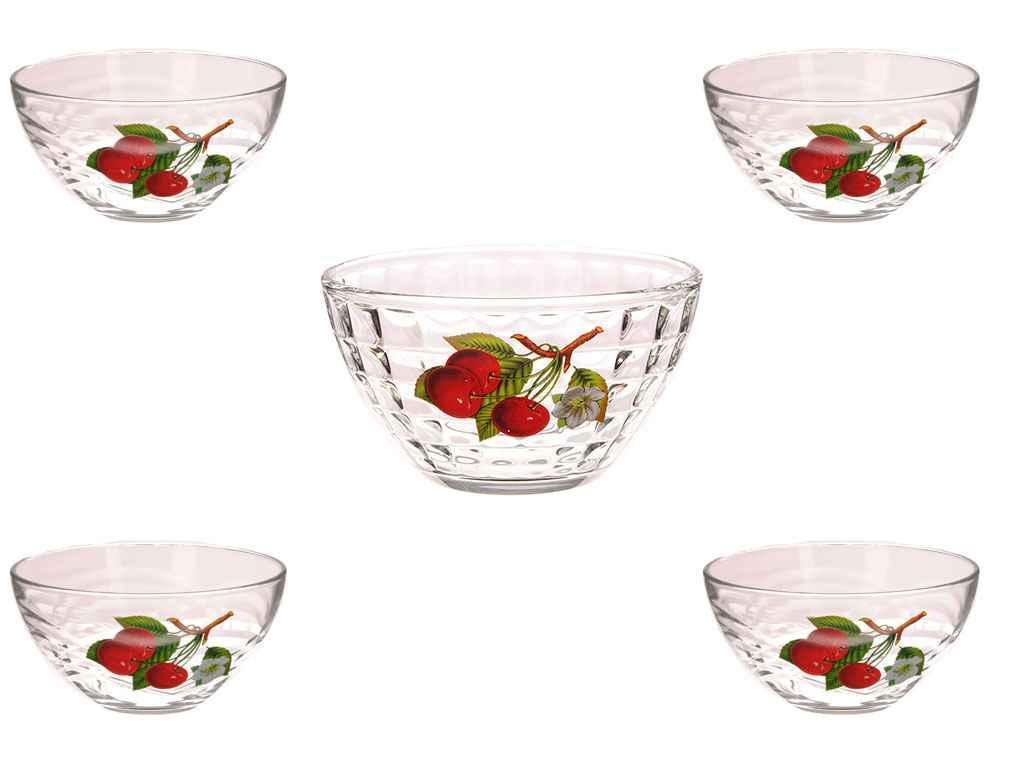 Набор салатников стекло ОСЗ Вишня 5 предметов