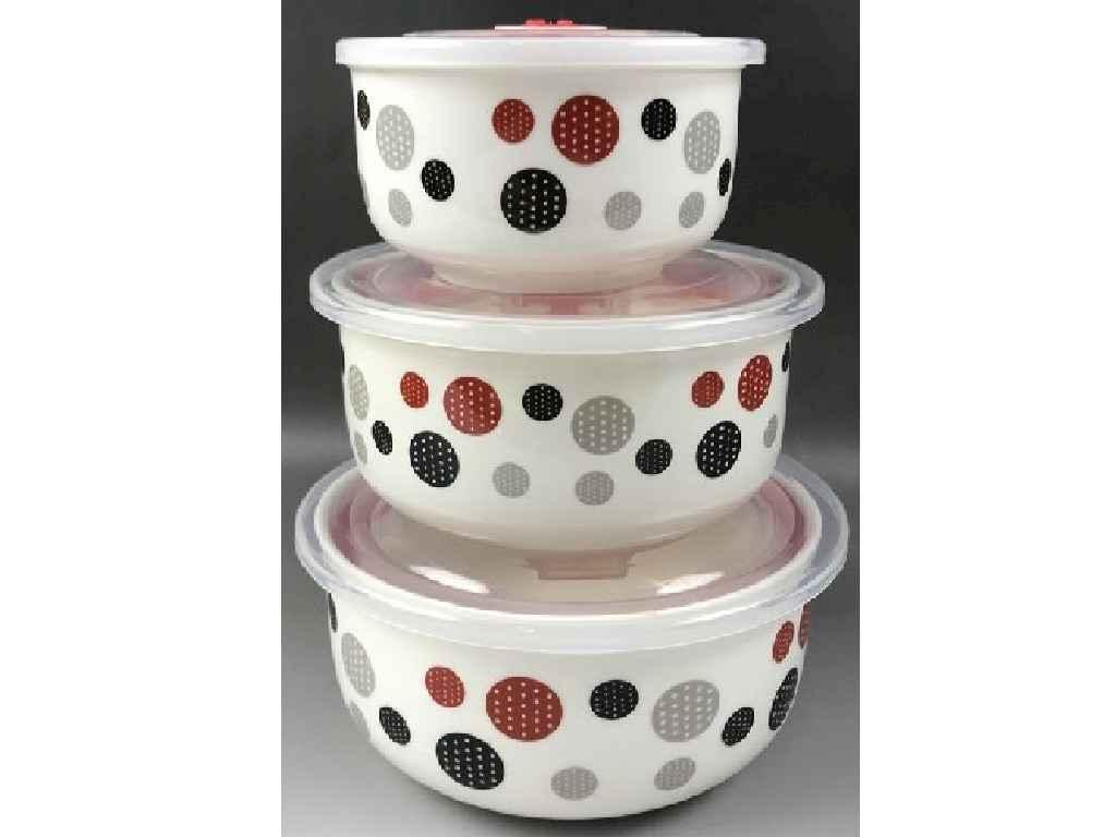 Набір салатників 3шт (300/450/1000мл) MC2954 MPH026368 ТМ STENSON