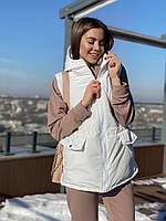 Женская куртка жилет с капюшоном Volkova