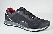 Мужские кожаные кроссовки черные в стиле 233 - 1