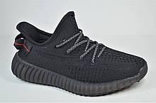 Підліткові модні кросівки чорні Restime Yeezy 21101