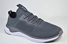 Чоловічі кросівки сітка сірі велетні Restime 21543