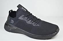 Чоловічі кросівки сітка велетні чорні Restime 21543