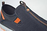 Мужские кроссовки сетка великаны черные с оранжевым Restime 21820, фото 4