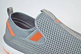 Мужские кроссовки сетка великаны серые с оранжевым Restime 21820, фото 4
