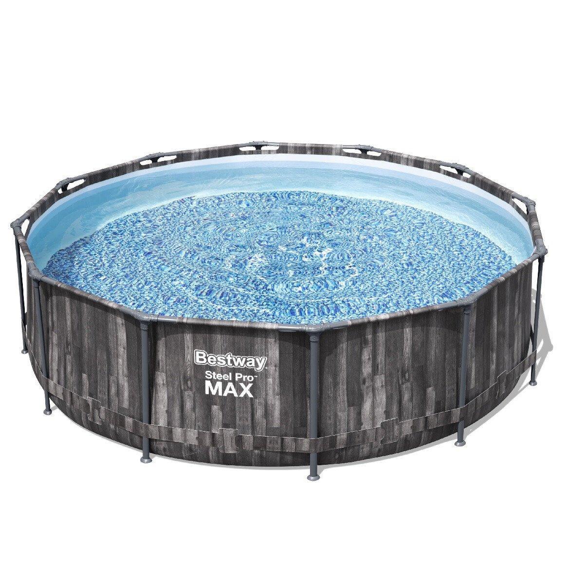 Каркасный бассейн Bestway Wood Style 5614Z (427х107), Каркасные бассейны, Круглая, 427х107, Китай