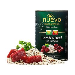 Корм консерва Nuevo Senior для лiтнiх собак з ягням, яловичиною та вiвсянкою 400 г