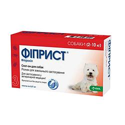 Краплі Фіприст спот он від бліх та кліщів для собак 2-10  кг 0,67  мл 1 піп