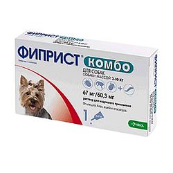 Краплі Фіприст Комбо спот он від бліх та кліщів для собак 2-10  кг 1 піп