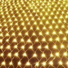 Світлодіодна гірлянда сітка 160 LED 1,5 х 1,5 м Золото (125406Z)