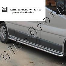 Пороги боковые труба с листом Opel Movano (10+) D42 короткая база