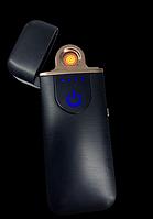 USB зажигалка электронная спиральная с фонариком LIGHTER VIP Club 5414 Черная