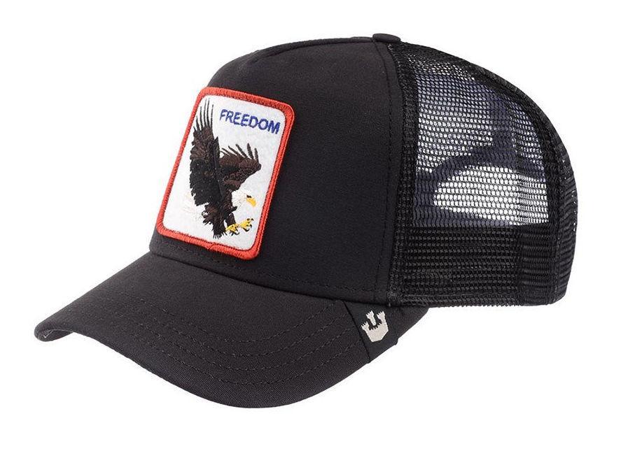 Кепка Бейсболка Тракер з сіткою Goorin Brothers Animal Farm Freedom з Орлом Чорна