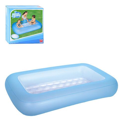 Дитячий надувний басейн Bestway 51115 165х104х25см. Синій