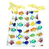 Топ с рыбками для девочки тм Моне р-ры 110,116,128,134