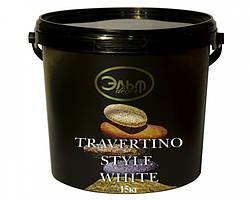 TRAVERTINO Style White 15кг (Травертин). Декоративна штукатурка Ельф-Декор.
