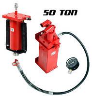 Гидравлический насос цилиндр и манометр 50 тонн