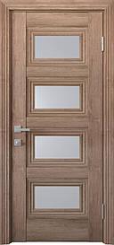 Двері міжкімнатні Тесса скло Сатин, Горіх Європейський, 900