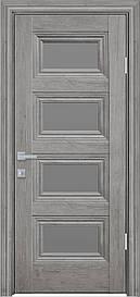 Двері міжкімнатні Тесса скло Графіт, Горіх Скандинавський, 600